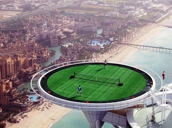 The highest tennis court in the world